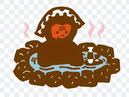 Saru hot spring color