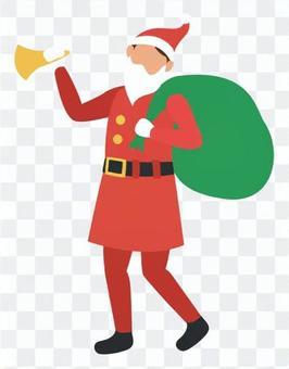 聖誕老人用擴音器走路