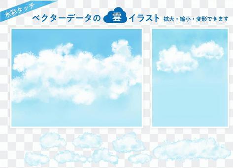 [傳染媒介數據]藍天和雲彩的例證
