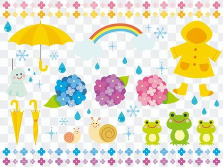 雨季的例證
