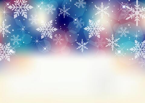 閃閃發光的雪晶背景框架