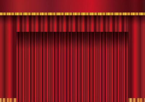 背景框架窗簾帷幕紅色窗簾垂懸