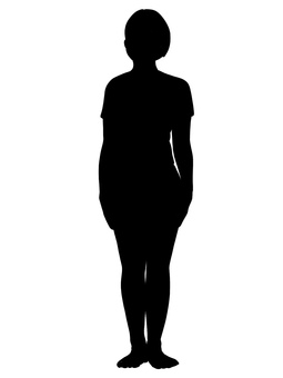 Silhouette front upright