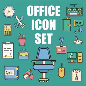 辦公室圖標集