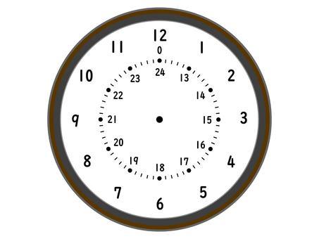 時鐘 24 小時時鐘時鐘手錶圈
