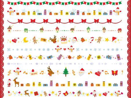 手繪可愛聖誕線集