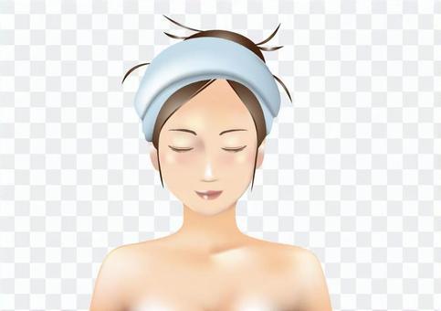 Female face simulation