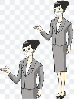 女職工指導(口罩)