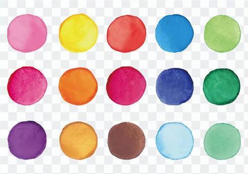 水彩顏色框架