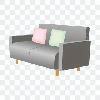 二人沙發(灰色)