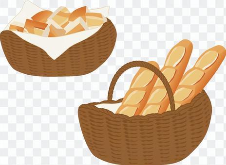フランスパン カゴ入りカット セット