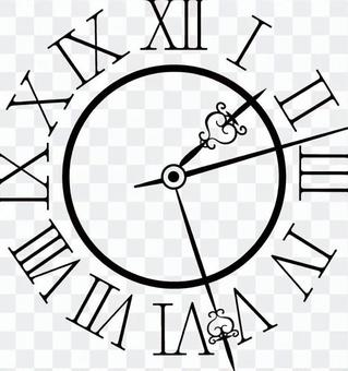Antique clock black