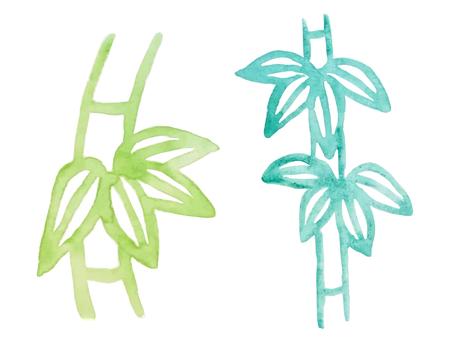 Watercolor_bamboo_2 件