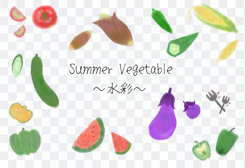 水彩の夏野菜詰め合わせ