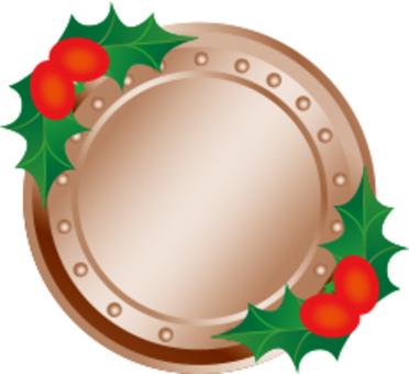 Christmas medal frame