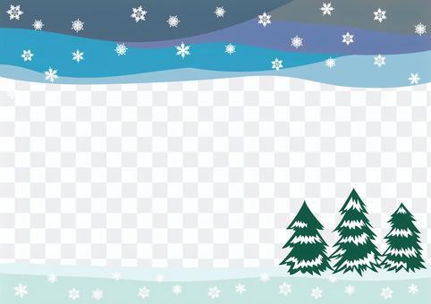 景觀框-雪景