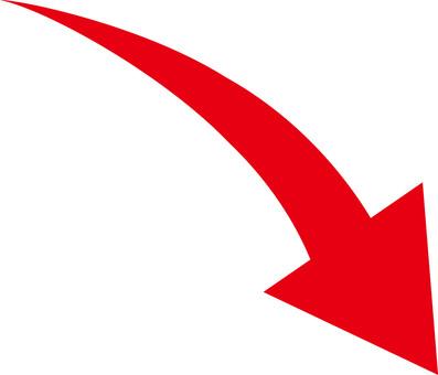 箭頭向下紅色