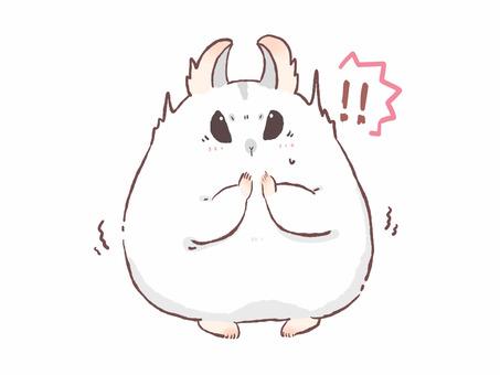 驚訝的倉鼠
