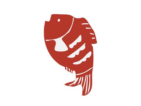 紅魚立體畫插圖