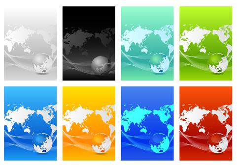 生態形象全球環境綠色背景集