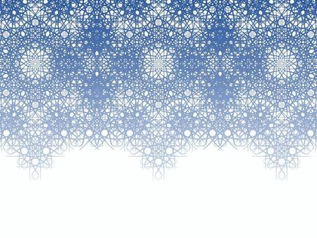 Braiding pattern (blue)