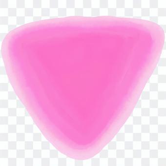 逆三角形水彩アイコン