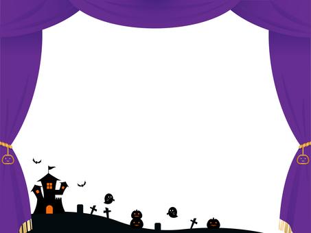 Halloween purple stage curtain