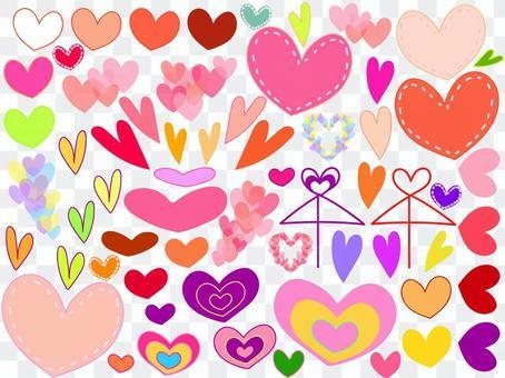 Cute heart set