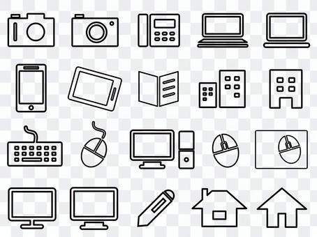 業務圖標集(PC,相機等)
