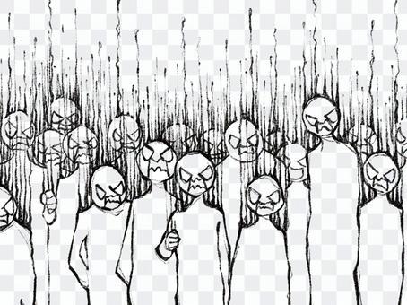 群眾憤怒起義