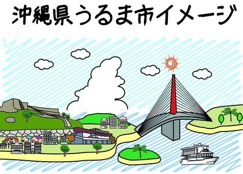 沖繩宇流麻市建築觀光線圖