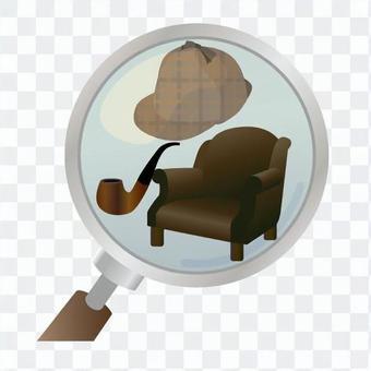 偵探和放大鏡