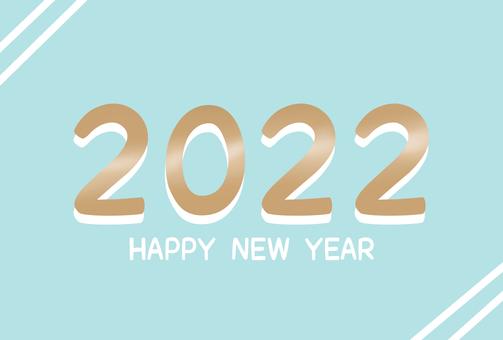 帶有簡單設計的新年賀卡 2