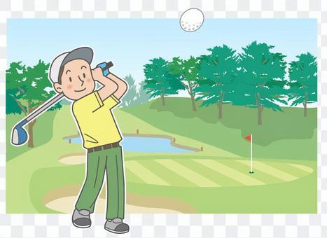 Golf Men Sports Illustration