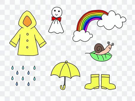 雨後的雨季彩虹