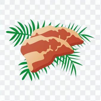 豪华的牛排肉