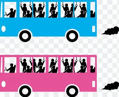 公交路線公交運輸交通擁擠