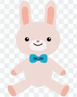 兔子填充动物(白色