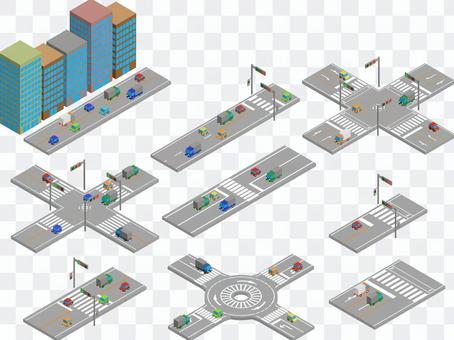 交叉口/行人過路裝置(3D)