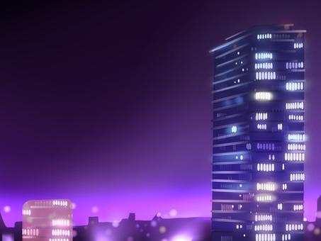 夜間建築背景圖 2