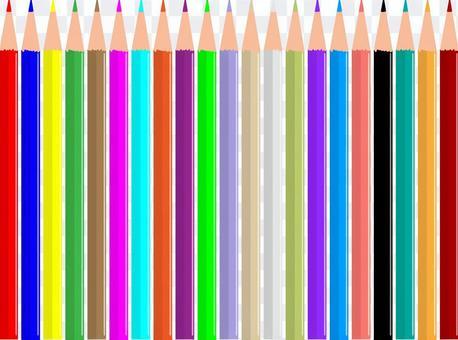 21色的彩色鉛筆