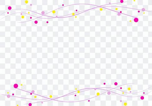 背景素材 曲線フレーム ピンク