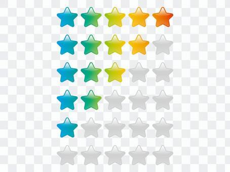 彩虹星評級圖標