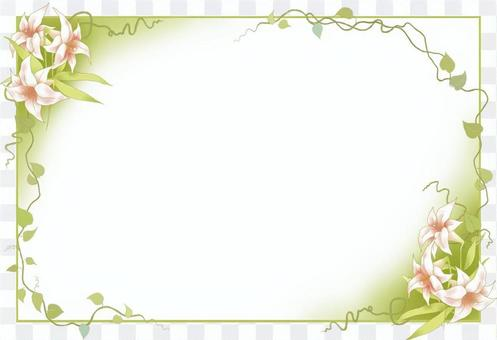 Lilies and vines frame 2