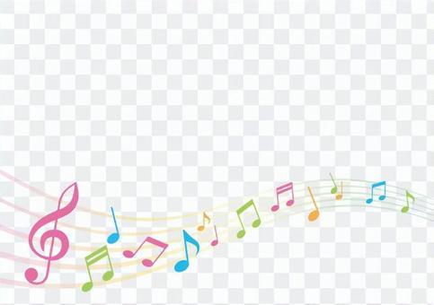 Decoration material 006 music