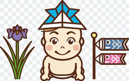 """兒童節/嬰兒5""""飄帶和鳶尾花"""""""