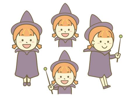 Witch illustration set