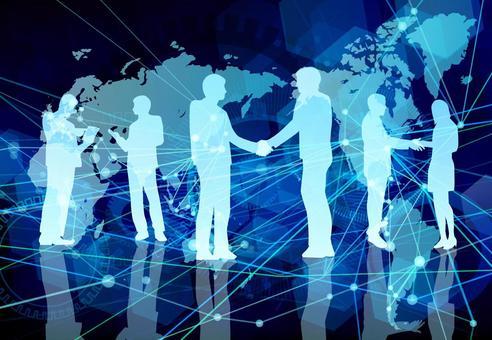 全球數字網絡藍色