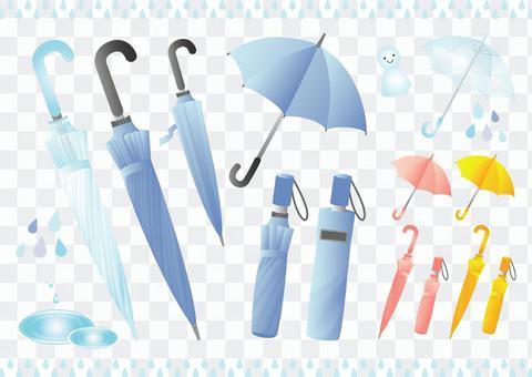 跳傘乙烯基傘折疊雨傘套裝