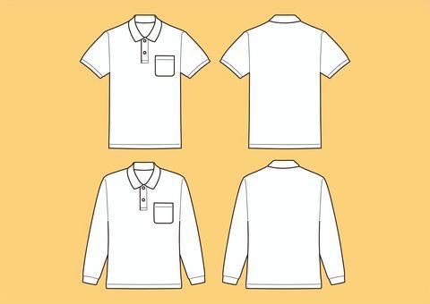 ポロシャツ半袖、長袖